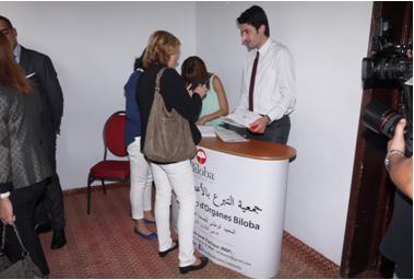 Présentation de l'activité Biloba au public présent au symposium Oran 7 octobre 2015